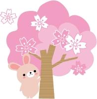 桜と兎.gif